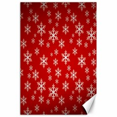 Christmas Snow Flake Pattern Canvas 20  X 30