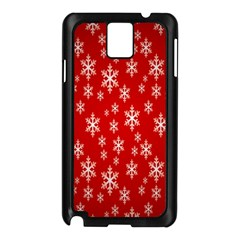 Christmas Snow Flake Pattern Samsung Galaxy Note 3 N9005 Case (black)