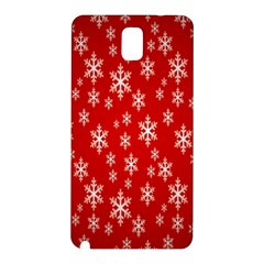 Christmas Snow Flake Pattern Samsung Galaxy Note 3 N9005 Hardshell Back Case by Nexatart