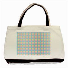 Grid Squares Texture Pattern Basic Tote Bag (two Sides) by Nexatart