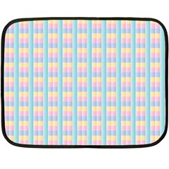 Grid Squares Texture Pattern Fleece Blanket (mini) by Nexatart