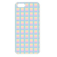 Grid Squares Texture Pattern Apple Iphone 5 Seamless Case (white) by Nexatart
