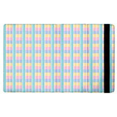 Grid Squares Texture Pattern Apple Ipad 3/4 Flip Case by Nexatart