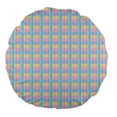 Grid Squares Texture Pattern Large 18  Premium Round Cushions by Nexatart