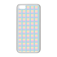 Grid Squares Texture Pattern Apple Iphone 5c Seamless Case (white)