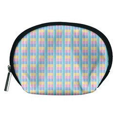 Grid Squares Texture Pattern Accessory Pouches (medium)  by Nexatart