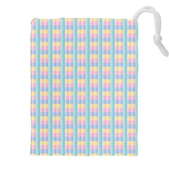 Grid Squares Texture Pattern Drawstring Pouches (xxl) by Nexatart