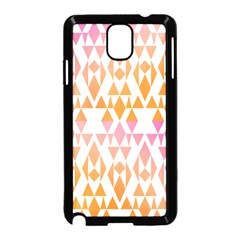 Geometric Abstract Orange Purple Pattern Samsung Galaxy Note 3 Neo Hardshell Case (black) by Nexatart
