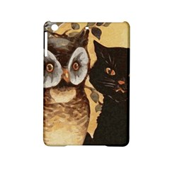 Owl And Black Cat Ipad Mini 2 Hardshell Cases by Nexatart