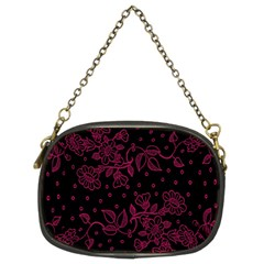 Pink Floral Pattern Background Wallpaper Chain Purses (two Sides)  by Nexatart