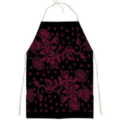 Pink Floral Pattern Background Wallpaper Full Print Aprons