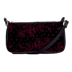 Pink Floral Pattern Background Wallpaper Shoulder Clutch Bags by Nexatart