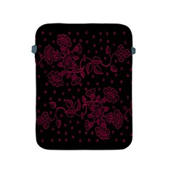 Pink Floral Pattern Background Wallpaper Apple Ipad 2/3/4 Protective Soft Cases