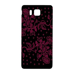 Pink Floral Pattern Background Wallpaper Samsung Galaxy Alpha Hardshell Back Case by Nexatart