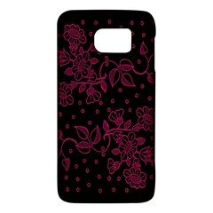 Pink Floral Pattern Background Wallpaper Galaxy S6 by Nexatart