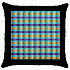 Pattern Grid Squares Texture Throw Pillow Case (black) by Nexatart