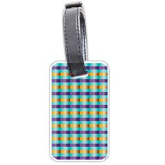 Pattern Grid Squares Texture Luggage Tags (two Sides) by Nexatart
