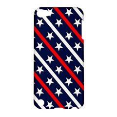 Patriotic Red White Blue Stars Apple Ipod Touch 5 Hardshell Case by Nexatart