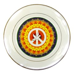 Peace Art Artwork Love Dove Porcelain Plates by Nexatart
