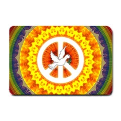 Peace Art Artwork Love Dove Small Doormat  by Nexatart