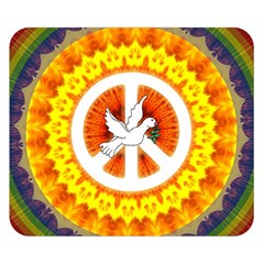 Peace Art Artwork Love Dove Double Sided Flano Blanket (small)  by Nexatart