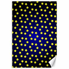 Star Christmas Yellow Canvas 24  X 36  by Nexatart