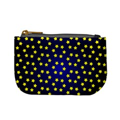 Star Christmas Yellow Mini Coin Purses by Nexatart