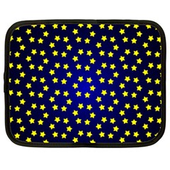 Star Christmas Yellow Netbook Case (xxl)  by Nexatart