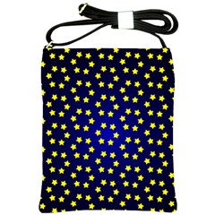 Star Christmas Yellow Shoulder Sling Bags by Nexatart