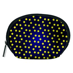 Star Christmas Yellow Accessory Pouches (medium)  by Nexatart
