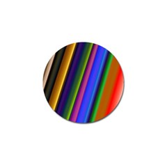 Strip Colorful Pipes Books Color Golf Ball Marker by Nexatart