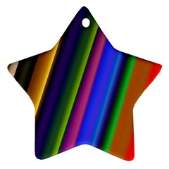 Strip Colorful Pipes Books Color Star Ornament (two Sides) by Nexatart