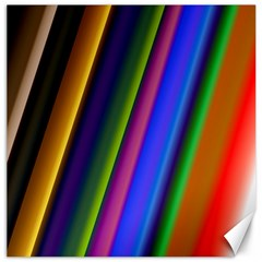 Strip Colorful Pipes Books Color Canvas 20  X 20   by Nexatart