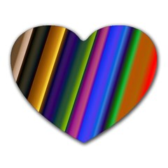 Strip Colorful Pipes Books Color Heart Mousepads by Nexatart