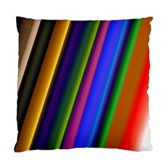 Strip Colorful Pipes Books Color Standard Cushion Case (two Sides) by Nexatart