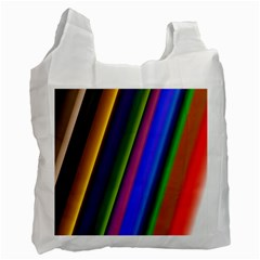 Strip Colorful Pipes Books Color Recycle Bag (two Side)  by Nexatart