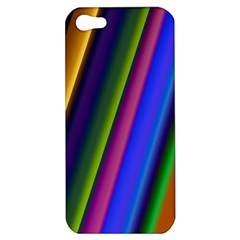 Strip Colorful Pipes Books Color Apple Iphone 5 Hardshell Case by Nexatart