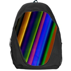 Strip Colorful Pipes Books Color Backpack Bag by Nexatart