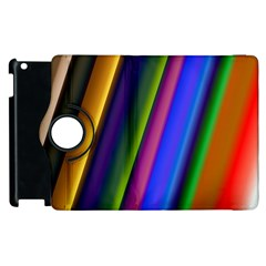 Strip Colorful Pipes Books Color Apple Ipad 3/4 Flip 360 Case by Nexatart