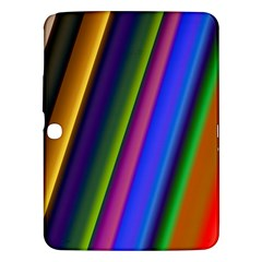 Strip Colorful Pipes Books Color Samsung Galaxy Tab 3 (10 1 ) P5200 Hardshell Case  by Nexatart