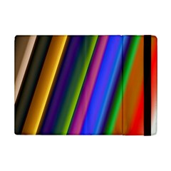 Strip Colorful Pipes Books Color Ipad Mini 2 Flip Cases by Nexatart