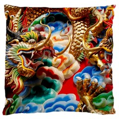 Thailand Bangkok Temple Roof Asia Large Cushion Case (two Sides) by Nexatart