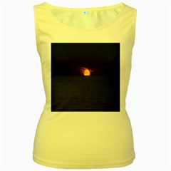 Sunset Ocean Azores Portugal Sol Women s Yellow Tank Top by Nexatart
