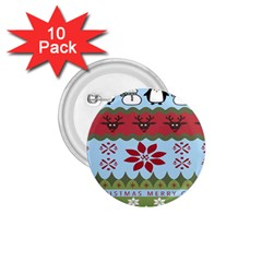 Ugly Christmas Xmas 1 75  Buttons (10 Pack) by Nexatart