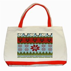 Ugly Christmas Xmas Classic Tote Bag (red) by Nexatart