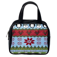 Ugly Christmas Xmas Classic Handbags (one Side)
