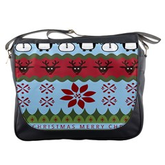 Ugly Christmas Xmas Messenger Bags by Nexatart