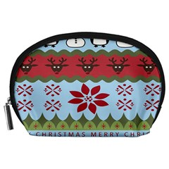Ugly Christmas Xmas Accessory Pouches (large)  by Nexatart