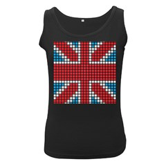 The Flag Of The Kingdom Of Great Britain Women s Black Tank Top