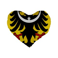 Silesia Coat Of Arms  Standard 16  Premium Heart Shape Cushions by abbeyz71